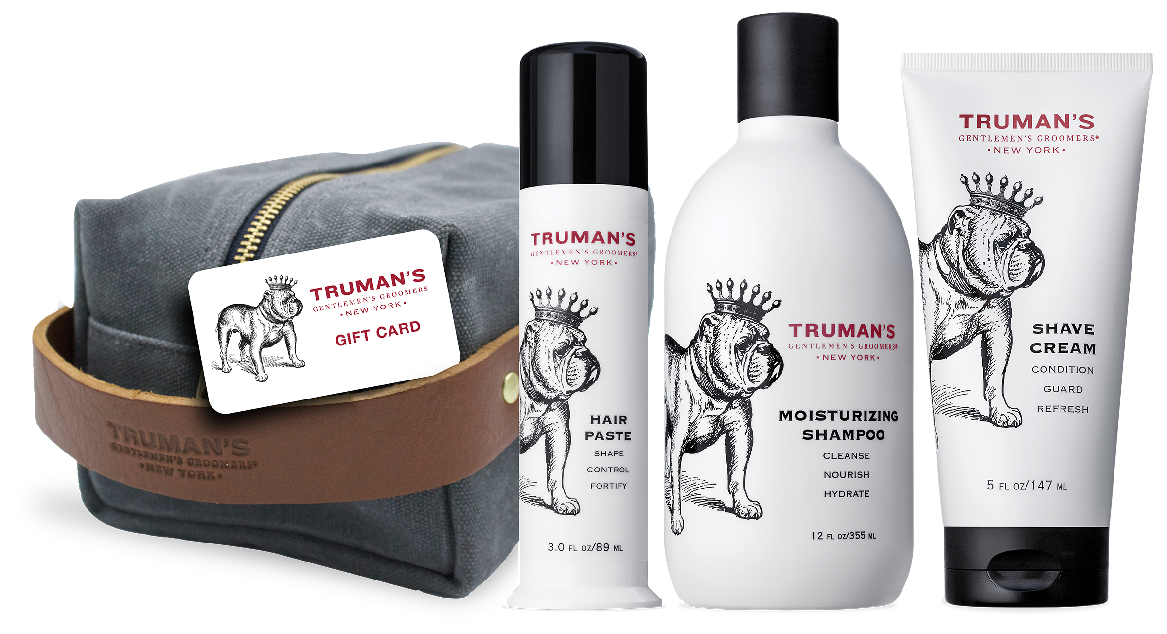 truman's gift set with dopp kit